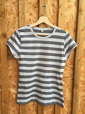Striped Crew Neck T-Shirts Size Petite for Women