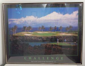"Challenge Inspirational Print Golf Challenge Shot Island Green 22""x28"""