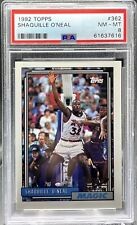 New listing Shaquille O'Neal 1992 Topps #362 RC Rookie HOF PSA 8