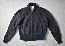 Vintage 50 s Hercules Sears Daim Bleu Veste CUIR Blouson CUIR Rockabilly M