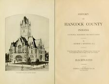 1916 HANCOCK County Indiana IN, History and Genealogy Ancestry Family DVD B36