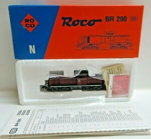 Roco N Gauge 23255 Diesel Locomotive Br 290 277-3 DB with Instructions Boxed
