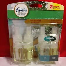 2 Febreze Scented Oil Refills Frosted Pine Winter Limited Edition Noticeables