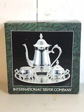 International Silver Company 4 Piece Coffee Tea Set Creamer Sugar Platter Used