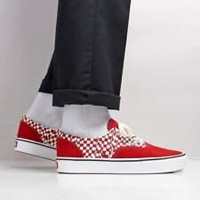 Vans COMFYCUSH ERA Tear Check Racing Red/White Men's Skate Shoes Size 10