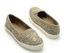 NEW Womens MIA GIRL PLAY TAUPE/GREEN Slip On  Flats Loafers  Shoes sz 8