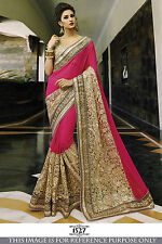 Designer Indian Partywear Saree Sari Wedding Reception Bollywood P1527