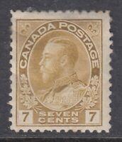 """Canada MINT OG Scott #113  7 cent yellow ochre  """"Admiral"""" **"""