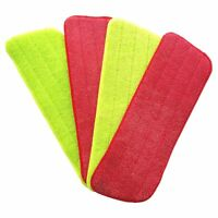 4Pcs Spray Mop Replacement Pads Washable Refill Microfiber Wet/Dry Cleaning Y4P9