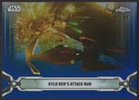 2019 Star Wars Chrome Legacy Blue Refractors #180 Kylo Ren's Attack Run 47/99