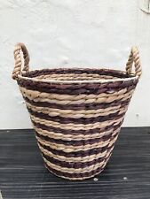 Beautiful Round Useful Wicker/Seagrass/Rattan Basket With Handles