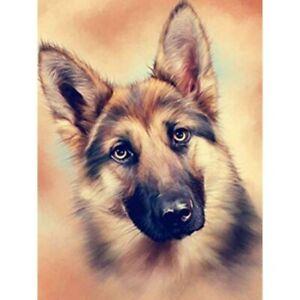 German Shepherd Dog Full Drill 5D Diamond Painting Embroidery Cross Stitch Home