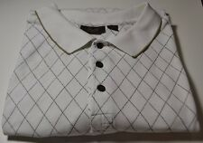 Mens TASSO ELBA Beige Polo Golf Short Sleeve Shirt Big Size XL