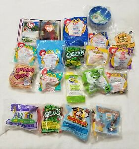 Surprise Lot of 19 NEW Sealed Happy Meal Toys 90's McDonalds Wendys Burger King