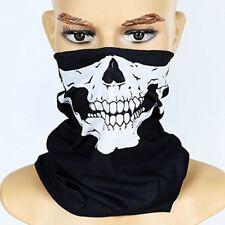 Bandana Totenkopf Maske Skull Sturmhaube Motorrad Rocker Halstuch Skelett Schal