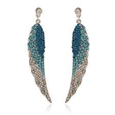 BETSEY JOHNSON Crystal Angel Wings Graduated Blue Stud Earrings Women Jewelry