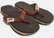 NIKE Vintage Waffle sandals Men's Size 10.5 Brown Flip Flops Original 1970s Rare