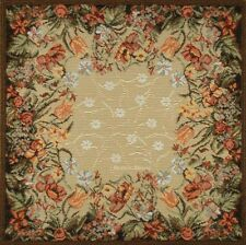 SET OF 4 DECORATIVE TAPESTRY TABLE NAPKINS Floral Ornament EURO PLACE MAT ACCENT