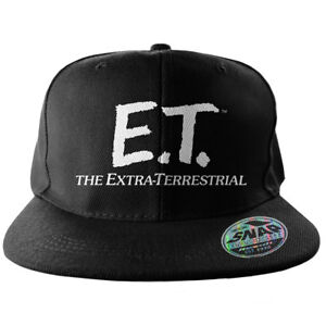 Officially Licensed E.T. Extra-Terrestrial Logo Adjustable Size Snapback Cap