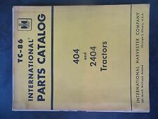 Farmall Ih 404 and 2404 Series Tractors Parts Catalog