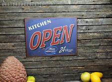 Türschild Blechschild Kitchen OPEN Schild Vintage Landhaus