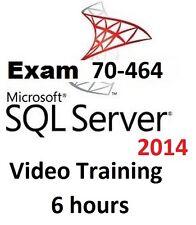 Learning Microsoft MCSE SQL Server 2014 Exam 70-464 Video Training 6 hours