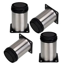 """4 pcs cabinet metal legs adjustable stainless steel kitchen feet stand 2-3/4"""""""