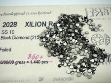 360 Swarovski Xilion Rose Flatback 10ss Black Diamond Art 2028 2.8mm ss10, grey