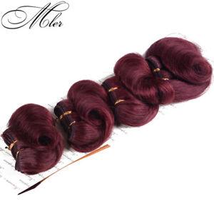 "6""*4PCS African Curl Human Hair Extensions Afro-B Short Hair 100G Color #99J"