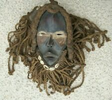 DAN RACER MASK with ROPE, HAIR, OCHRES , SHELLS .