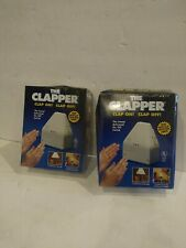 The Clapper Sound Activated On/Off Switch Clap On! Clap Off Vintage New Lot Of 2