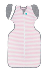 Love to Dream Swaddle Up Transition Bag 50/50 - 3 SIZES - PINK STRIPE 1TOG