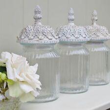 Tea Coffee Sugar Glass Storage Jar Canisters