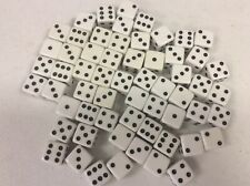 "NEW X60 Pcs 3/4"" White Dice  Grams Vintage NOS Crisloid"