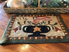 """PRIMITIVE HOOKED RUG PATTERN ON MONKS /""""DARE TO BE DIFFERENT/"""""""