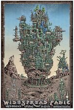 MINT & SIGNED EMEK 2016 Widespread Panic Red Rocks Poster 81/111