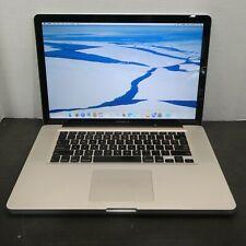 "Apple MacBook Pro A1286 15.4"" 2.4GHz i5-520M 4GB RAM 128GB SDD OS 10.11 2010"
