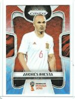 2018 Panini Prizm World Cup Soccer Andres Iniesta (Spain) Red & Blue PRIZM #197