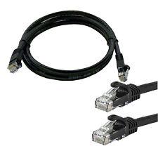1.5ft feet CAT5 RJ45 CAT5E Ethernet LAN Network Cable Jumper Black Patch Cord