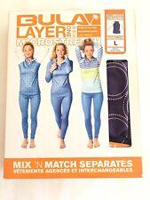 BULA Base Layer One Shirt Micro Stretch 1/4 zip Women's L Purple White