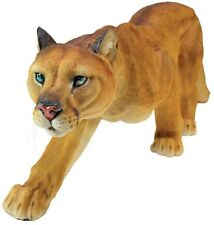 Prowling Cougar Garden Statue Wild Cat Exotic Decor Panther Stunning Design New