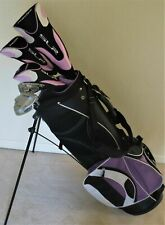 NEW Petite Ladies Golf Set Driver Wood Hybrid Irons Putter Stand Bag Graphite
