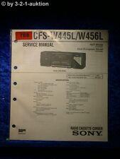 Sony Service Manual CFS W445L / W456L Cassette Recorder (#0788)