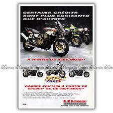 PUB KAWASAKI ZRX1200, ZRX 1200 S & ZRX 1200 R - Advert / Publicité Moto de 2001