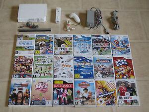 Nintendo Wii Konsole mit Zubehörpaket + 2 Gratis Wii Spiele + Remote