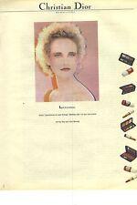 PUBLICITE ADVERTISING  1981  DIOR cosmétiques maquillage beauté