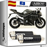 ARROW TUBO DE ESCAPE THUNDER ALUMINIO BLACK HOM YAMAHA YZF-R 125 2014 14 2015 15