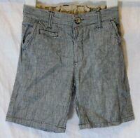 Baby Boys Matalan Grey Pinstripe Linen Blend Smart Shorts Age 18-24 Months