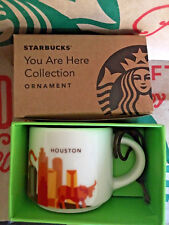 Starbucks Demitasse Cup 2017 HOUSTON TEXAS YAH You Are Here MINI MUG ORNAMENT2oz