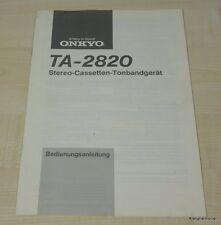 Onkyo TA-2820 Bedienungsanleitung deutschsprachig